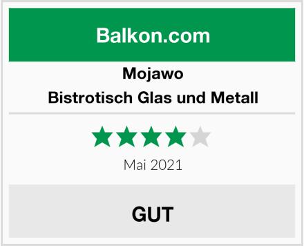 Mojawo Bistrotisch Glas und Metall Test