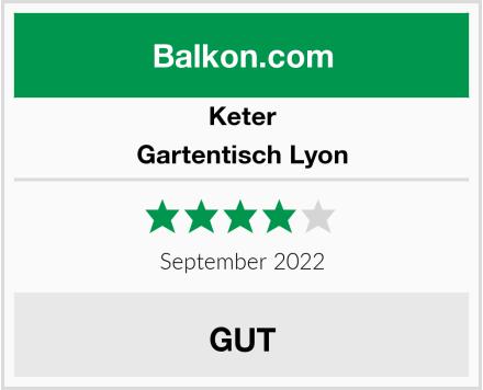 Keter Gartentisch Lyon Test