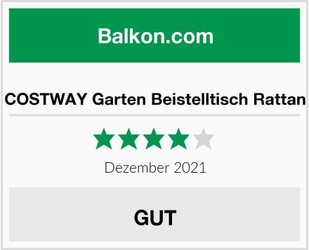 COSTWAY Garten Beistelltisch Rattan Test