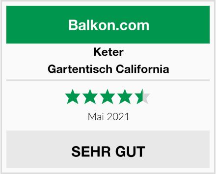 Keter Gartentisch California Test