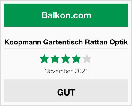 Koopmann Gartentisch Rattan Optik Test