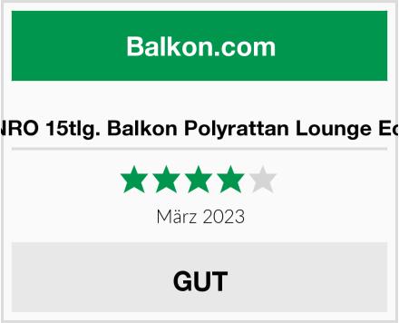 XINRO 15tlg. Balkon Polyrattan Lounge Ecke Test