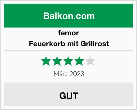 femor Feuerkorb mit Grillrost Test