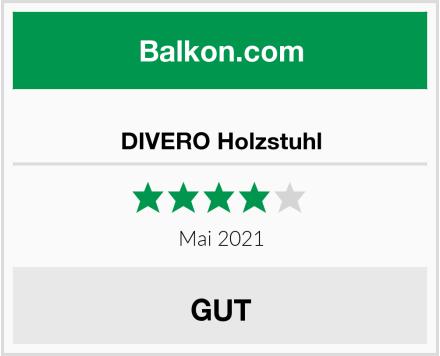 DIVERO Holzstuhl Test