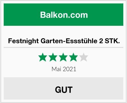 Festnight Garten-Essstühle 2 STK. Test