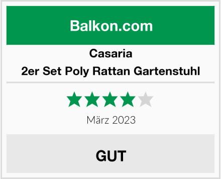 Casaria 2er Set Poly Rattan Gartenstuhl Test
