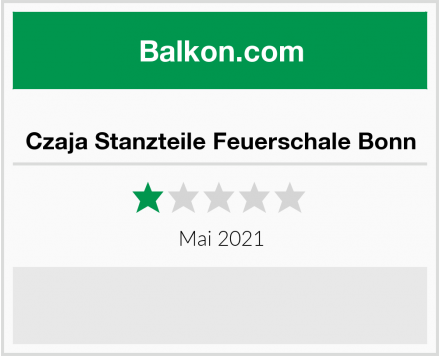 Czaja Stanzteile Feuerschale Bonn Test