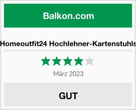 Homeoutfit24 Hochlehner-Kartenstuhls Test