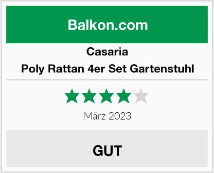 Casaria Poly Rattan 4er Set Gartenstuhl Test
