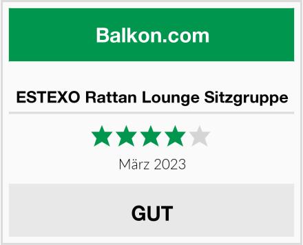 ESTEXO Rattan Lounge Sitzgruppe Test