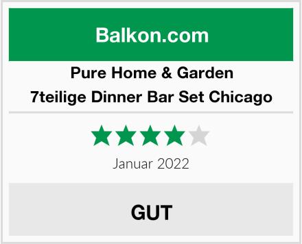 Pure Home & Garden 7teilige Dinner Bar Set Chicago Test