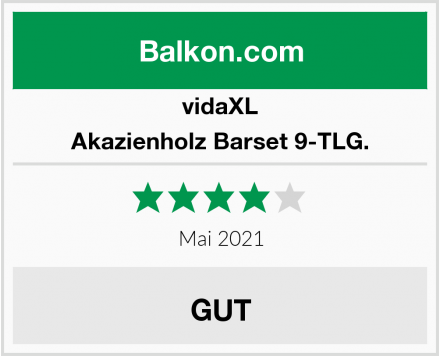 vidaXL Akazienholz Barset 9-TLG. Test