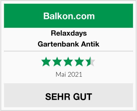 Relaxdays Gartenbank Antik Test