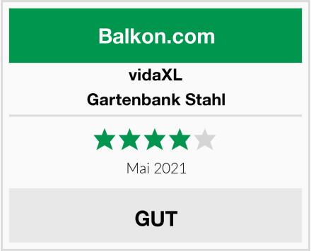 vidaXL Gartenbank Stahl Test