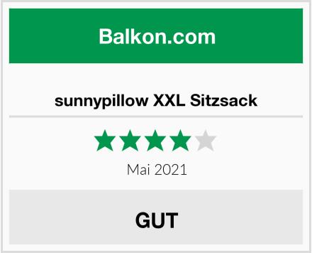 sunnypillow XXL Sitzsack Test