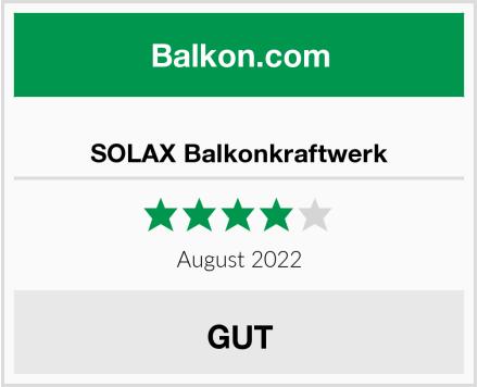 SOLAX Balkonkraftwerk Test