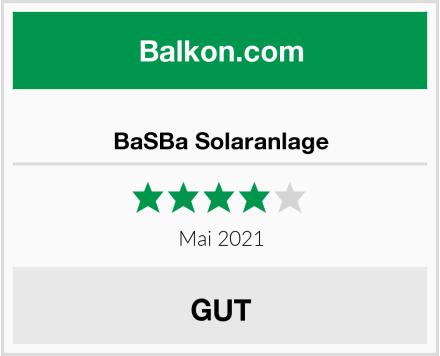 BaSBa Solaranlage Test