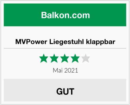 MVPower Liegestuhl klappbar Test