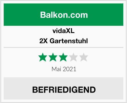 vidaXL 2X Gartenstuhl Test