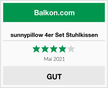 sunnypillow 4er Set Stuhlkissen Test
