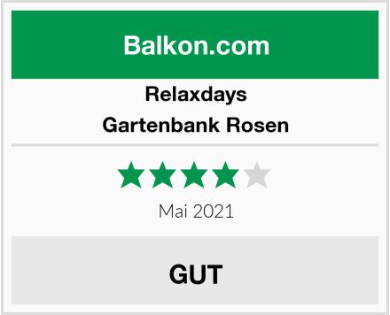 Relaxdays Gartenbank Rosen Test