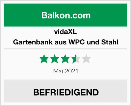 vidaXL Gartenbank aus WPC und Stahl Test