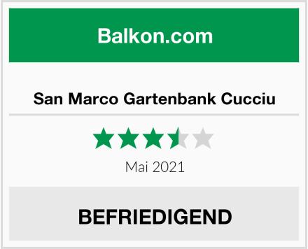 San Marco Gartenbank Cucciu Test