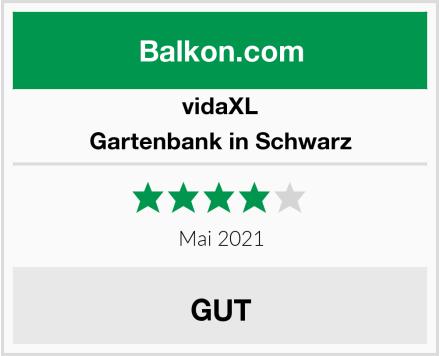 vidaXL Gartenbank in Schwarz Test