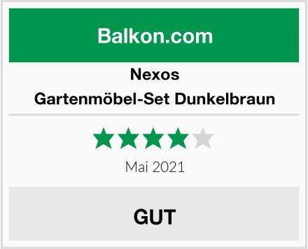 Nexos Gartenmöbel-Set Dunkelbraun Test