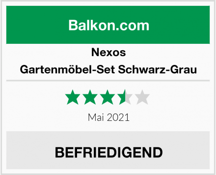 Nexos Gartenmöbel-Set Schwarz-Grau Test