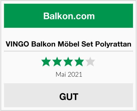VINGO Balkon Möbel Set Polyrattan Test