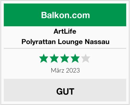 ArtLife Polyrattan Lounge Nassau Test
