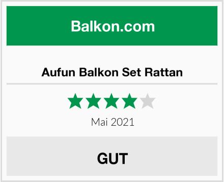 Aufun Balkon Set Rattan Test