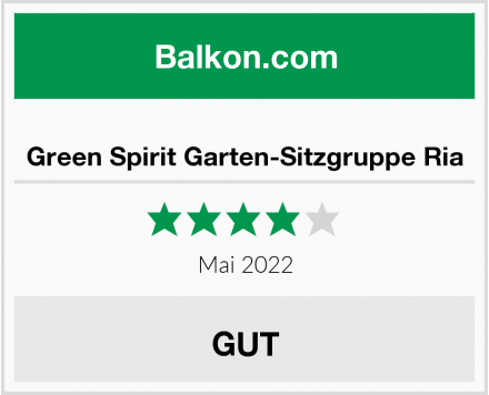 Green Spirit Garten-Sitzgruppe Ria Test