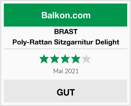 BRAST Poly-Rattan Sitzgarnitur Delight Test