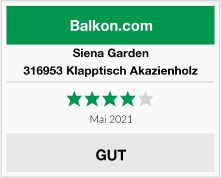 Siena Garden 316953 Klapptisch Akazienholz Test