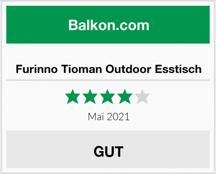 Furinno Tioman Outdoor Esstisch Test