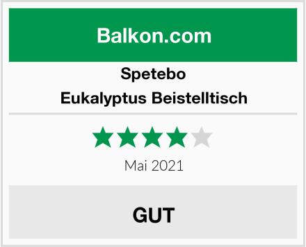 Spetebo Eukalyptus Beistelltisch Test