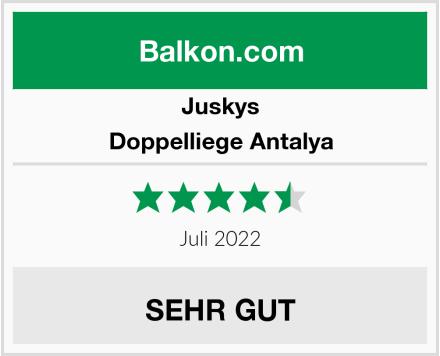 Juskys Doppelliege Antalya Test