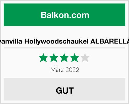 vanvilla Hollywoodschaukel ALBARELLA Test