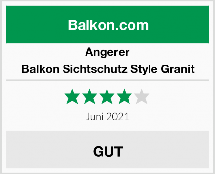 Angerer Balkon Sichtschutz Style Granit Test