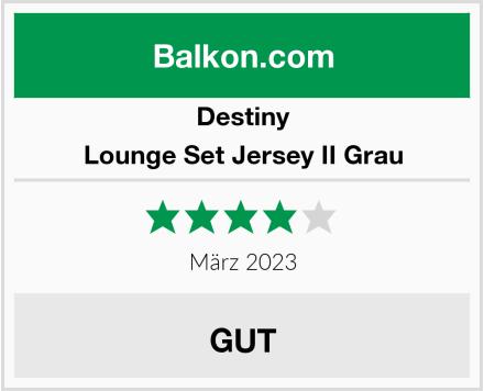 Destiny Lounge Set Jersey II Grau Test