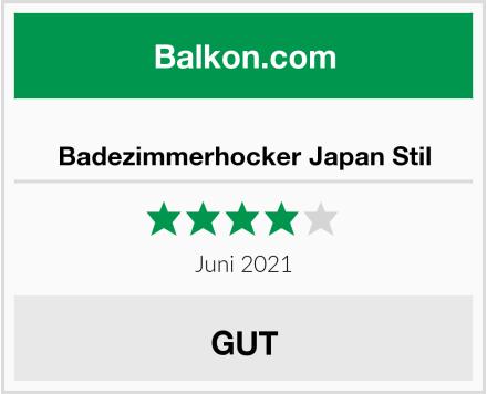 Badezimmerhocker Japan Stil Test