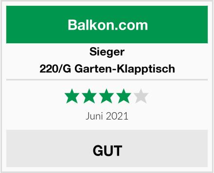 Sieger 220/G Garten-Klapptisch Test