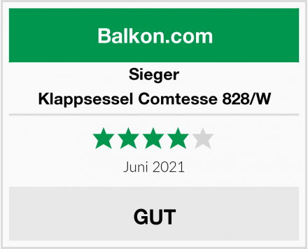 Sieger Klappsessel Comtesse 828/W Test