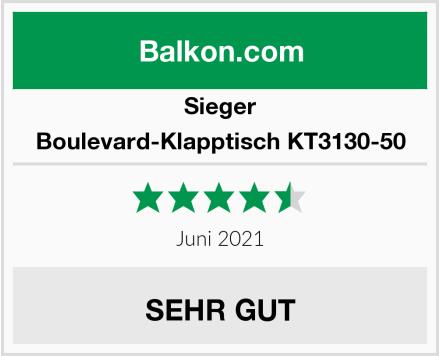 Sieger Boulevard-Klapptisch KT3130-50 Test