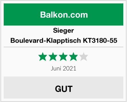 Sieger Boulevard-Klapptisch KT3180-55 Test
