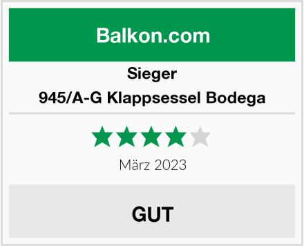 Sieger 945/A-G Klappsessel Bodega Test