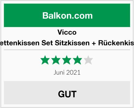 Vicco Palettenkissen Set Sitzkissen + Rückenkissen Test