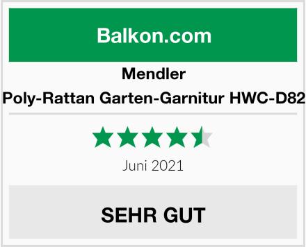 Mendler Poly-Rattan Garten-Garnitur HWC-D82 Test